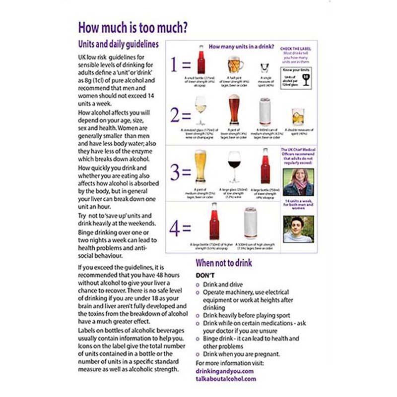 Alcohol and you leaflet