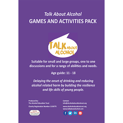 Talk About Alcohol games and activities pack