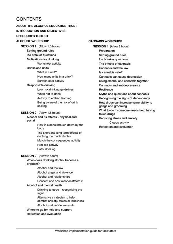 16+ Alcohol & Cannabis Toolkit
